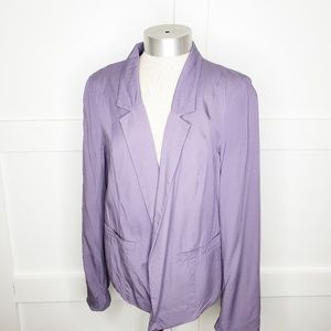 Frenchi Nordstrom  Purple Open Front Blazer Small